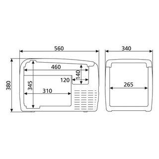 kompressorkuehlbox-cf-35-waeco-Abmessungen-Dometic-CF-35