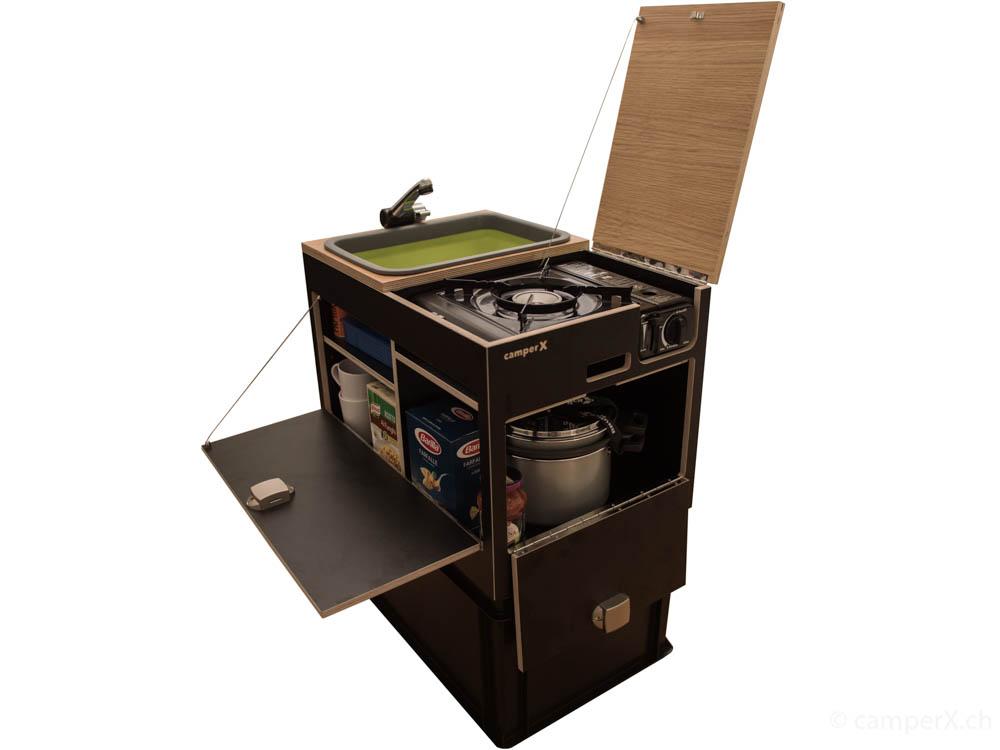California Küchenbox - 3in1! Heckküche, Küchenmodul, TOP ...